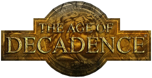Logo gry 'The Age of Decadence'