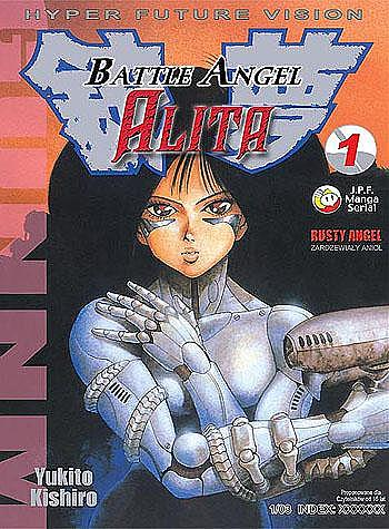 Okładka komiksu 'Battle Angel Alita'